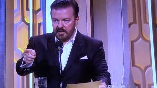 Golden Globes 2016 Ricky Gervais Donald Trump