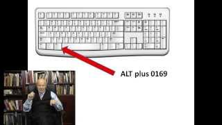 COPYRIGHT how to type the copyright symbol on a PC or a Mac