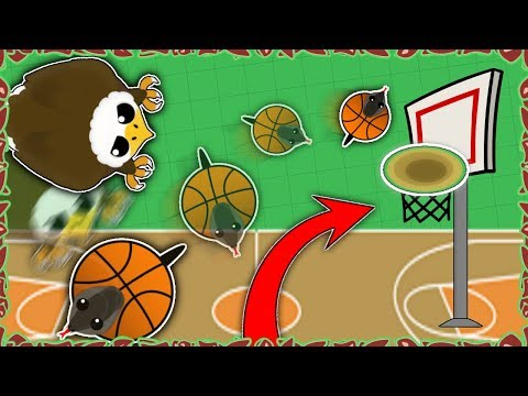 *NEW* EAGLE BASKETBALL MINI-GAME! // TROLLING WITH NEW ANIMALS (Mope.io funny moments)