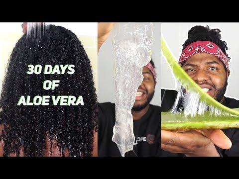 30 DAYS OF FRESH ALOE VERA GEL AND MY HAIR ACTUALLY GREW