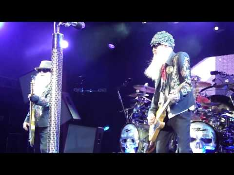 ZZ Top. Im Bad. Billy Gibbons with his RebelRelic Holy Grail Guitar La Grange Fest Austin Texas 2011
