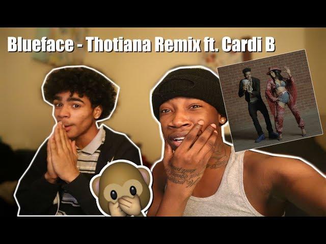 Blueface - Thotiana Remix ft. Cardi B (Dir. by @_ColeBennett_)(REACTION) thumbnail