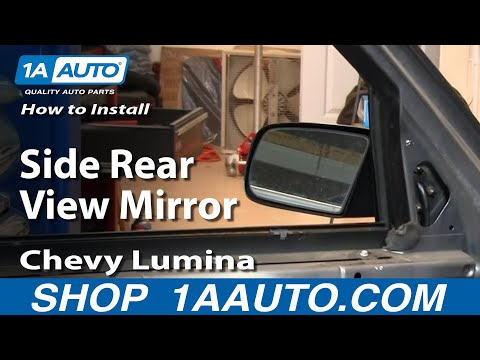 How To Install Replace Side Rear View Mirror Chevy Lumina 90-94 1AAuto.com