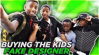 I BOUGHT THE KIDS FAKE DESIGNER CLOTHES!! (JAY GETS WOO MAD)