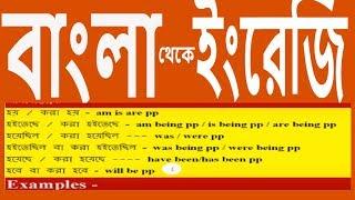 Translation in English  from Bengali - Tense ছাড়া -  Passive Voice এর বাংলা থেকে ইংরেজি  শর্ট কার্ট