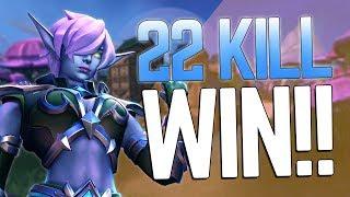 22 KILLS Solo vs Squad WIN | Realm Royale