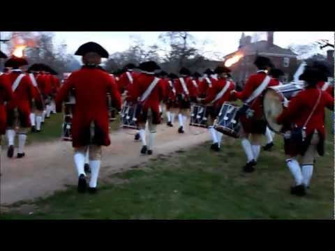 Colonial Williamsburg Fifes and Drums, Firing of the Christmas Guns
