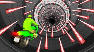 IMPOSSIBLE 100 MILE OBSTACLE TUNNEL! (GTA 5 Funny Moments)