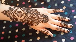 Indian Bridal Henna - Simple and Easy Mehendi Design - Wedding Mehndi for Beginners