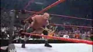 Goldberg vs triple h wwe raw 2003