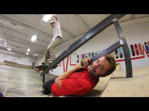Dangerous Skateboarding Over A Friend!