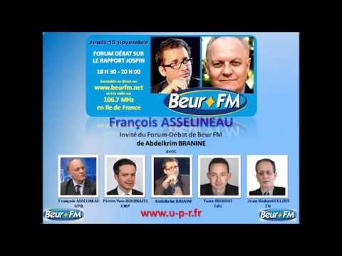 Francois Asselineau invite du Forum Debat de BEUR FM 15 novembre 2012