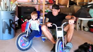 DAD vs KIDS!! Drifting & Camping