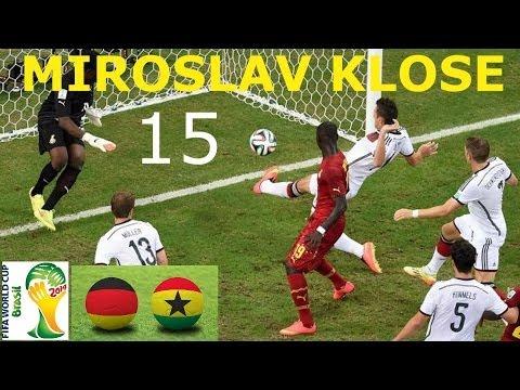 Alemania vs Ghana 2-2 Resumen HD Gol 15 de Miroslav Klose empata a Ronaldo Brasil 2014 21/06/2014