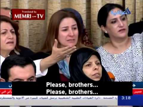 Iraqi MP Breaks Down in Tears Pleading Parliament to Save Yazidis from Genocide