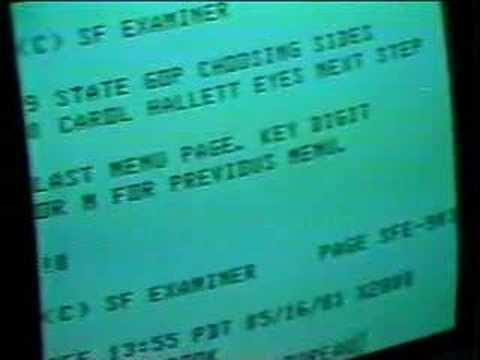 1981 primitive Internet report on KRON
