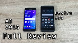 Samsung A3 2016 vs HTC Desire 530 Full Review