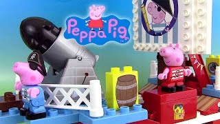 Peppa Pig Pirate Ship Building Blocks Jeu de Construction Bateau de Pirate