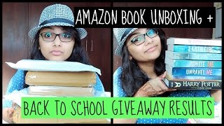 Amazon book unboxing+ BTS giveaway results