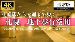 【通常版】札幌 地下歩行空間を歩く(Sapporo,Hokkaido,Japan)【4K】