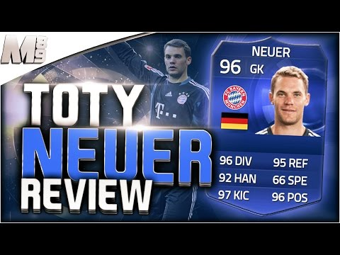 FIFA 15 UT - TOTY NEUER    FIFA 15 Ultimate Team 96 TOTY Player Review + In Game Stats