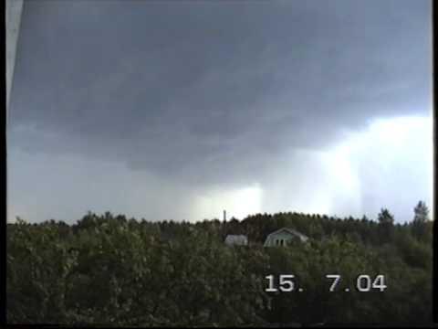 Гроза в Нижегородской области 15.07.2004 г.
