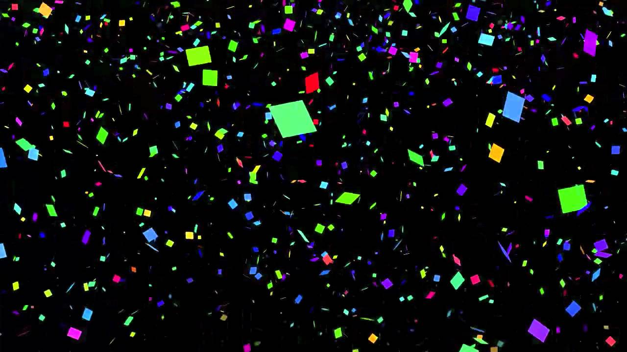 New Years Falling Confetti of Confetti for New Years
