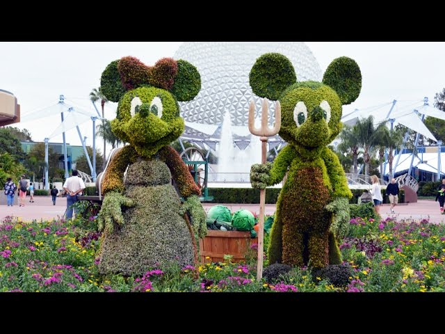 Epcot Flower and Garden Festival 2015 Preview #2 with FROZEN Topiary, Miss Piggy, Cinderella, Mater