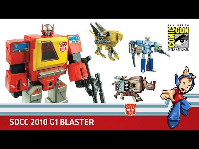 Transformers Blaster, Steeljaw, Ramhorn, Eject Edicion Especial SDCC 2010 Review en Español