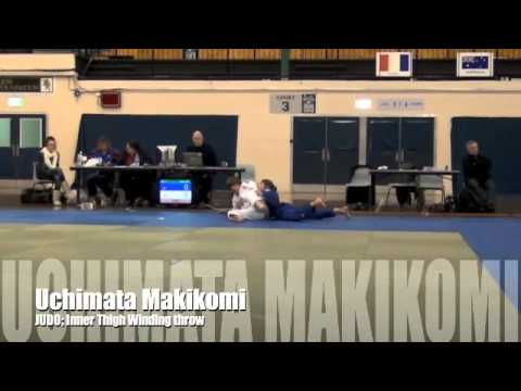 Uchimata Makikomi JUDO Ippon by Inner thigh wind throw Image 1