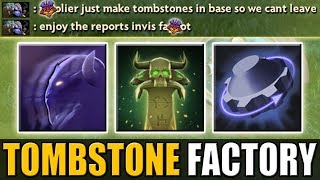 Invisible Tombstone Factory [Max Movement Slow Combo - Rearm + Tombstone] Dota 2 Ability Draft