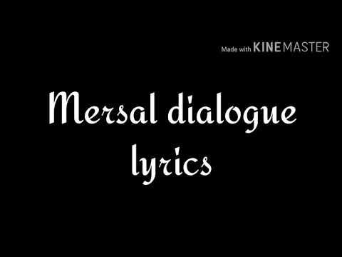 Mersal dialogue with lyrics