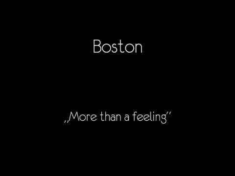 Boston - More than a feeling (Original) Video