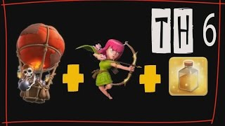 Tutorial Attack TH6 Menggunakan Strategi Ballon+Archer [Update 2015]