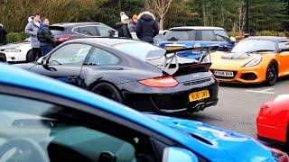 Surrey Car Meet UK, January 2019   Unprecedented Turnout *POLICE ARRIVE*