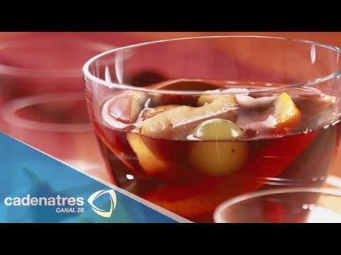 Receta para preparar ponche rojo/ Cómo hacer ponche rojo navideño/ Cócteles de navidad sin alcohol