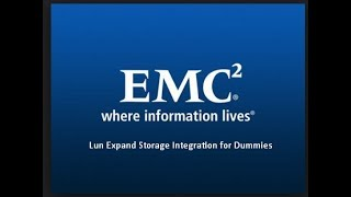 Lun Expand Storage Integration for Dummies Volume1 Expand a VNX LUN