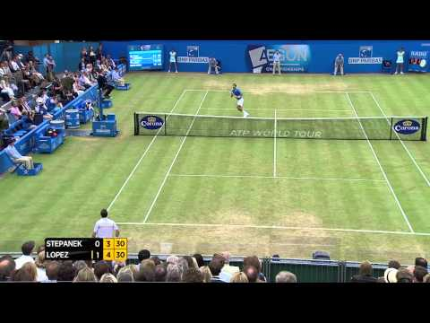 Radek Stepanek vs Feliciano Lopez - Aegon Championships Day 6 match highlights