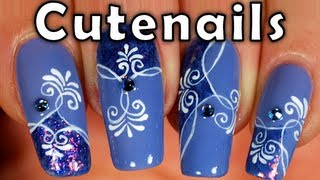 "Crazy ""arabesque"" nail art tutorial by cute nails"
