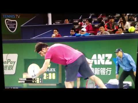 Federer vs Mayer - 3rd Set Tiebreak (Shangai 2014)