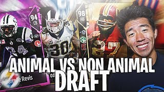 ANIMAL VS NON ANIMAL DRAFT VS DRE DRIZZLE! Madden 18 Draft Champions