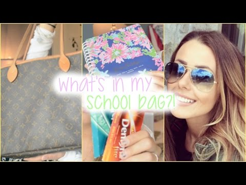 WHAT'S IN MY SCHOOL BAG?! (LOUIS VUITTON NEVERFULL MM)