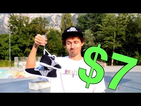 100 Flip Tricks VS $7 Dollar Shoe!