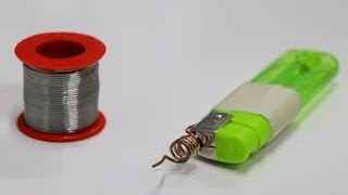 Make SOLDERING IRON using Lighter At Home - DIY Project