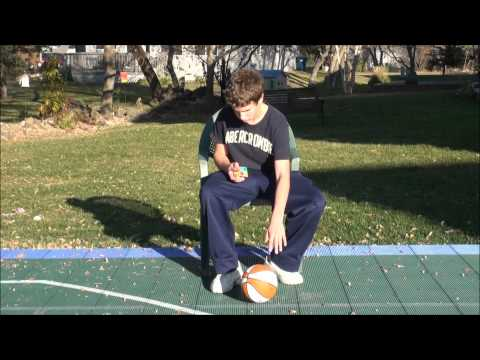 Watch Solve While Bouncing a BBall