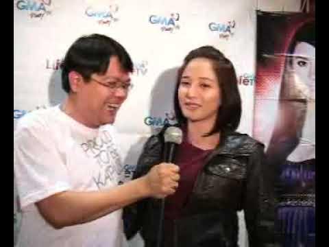 Luis Pedron of Fanclubx.com interviews Katrina Halili at the Starstruck V NJ Auditions Nov 10, 2009