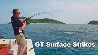 GT Popping Surface Strikes Andamans 2012