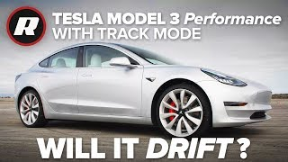 Testing the Tesla Model 3's new Track Mode: Will it drift?