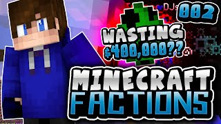 WASTING $400 000 CREEPERS?   Minecraft COSMIC FACTIONS! #2 (Cosmic PvP Pleb Planet)