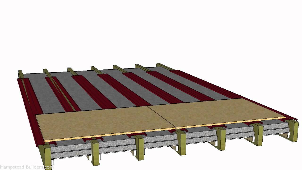 Underfloor Heating In A Timber Floor Designed In Sketchup